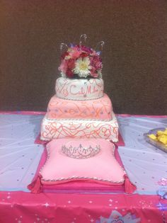 Attractive Pink Princess Baby Shower Cake U0026 Pillow Cake By Travis Parker