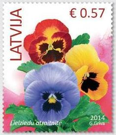 2014, Stamps of Latvia, Flowers