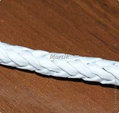 Мастер-класс Плетение МК Обьемная косичка Колосок из 8 трубочек Трубочки бумажные фото 16