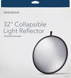 "Insignia™ - 32"" Collapsible Light Reflector - White/Silver, NS-DCLR32"