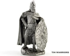Copy and paste this link to see video (to see high quality video - change quality to HD) http://youtu.be/8MuQCZhJsZs Decebal-Dacian king metal sculpture. Collection model of the toy tin soldier in scale 1:32 (54mm or 21/4 inches). #24 Its handmaded of a tin alloy with great attention to