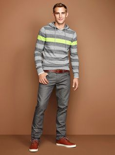 Pop-stripe hoodie sweater | Simons