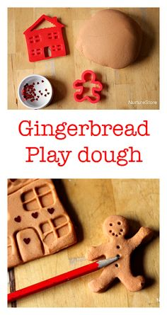Easy gingerbread play dough recipe - great for a Gingerbread Man topic