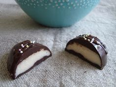 Pocketfuls: Homemade Easter Treats: Chocolate Coconut Creme Eggs (gluten-free, vegan)