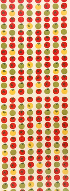 Japanese Tenugui cotton towel fabric. Lush tomatoes design. High quality tenugui fabrics made of soft 100% cotton cloth and hand dyed by Japanese master dyers.  [ H o w T o U s e ] * towel * washcloth * dishcloth * headband / bandanna * scarf * wall hanging (like a painting or textile) * wrapping * place mat * table runner / center piece * book jacket, and... MORE! Enjoy your own unique way!  [ M a t e r i a l ] Cotton 100%  [ D i m e n s i o n s ] 34×90cm / 13×35  [ C a r e ] ...