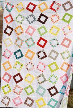 Fun modern/scrappy quilt!