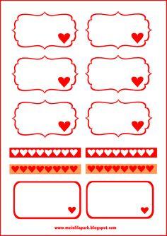 FREE printable blank Valentine's tags