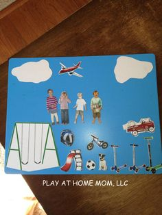 play at home idea -- tell stories with magnets starring family & friends!