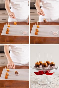 Chocolate and Caramel Dipped Marshmallows