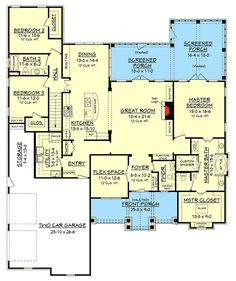 craftsman plan 132 200 great bones could be changed to 2 bedroom home plans pinterest craftsman bedrooms and house