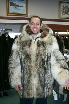 With the economy back on the upswing we made extra of these coats for all of you guys with some expendable money this winter season. Keep yourself warm in a luxurious wolf fur coat.