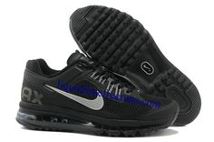 Womens Nike Air Max 2013 Black Reflective Silver Sport Grey Shoes