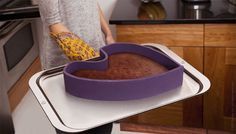 Mold-able cake pan. SO clever!! As well as other neat kitchen inventions!