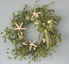 ocean green wreath