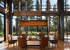 A relaxed mountain modern home was commissioned by Ward Young Architects along with Riera Design and Interiors, located in Martis Camp, California. Cute Dorm Rooms, Cool Rooms, Casa Top, Home Interior, Interior Design, Modern Mountain Home, Farmhouse Side Table, Home Look, Smart Home