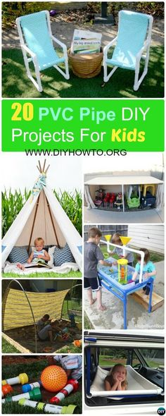 20 PVC Pipe DIY Projects #ForKids Fun [Instructions] via @diyhowto
