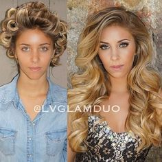 @lvglamduo used our 25mm Magic Wand and pin curl method, on this stunning model, look at all that hair!