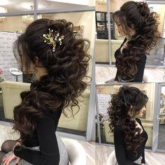 Elstile Long Wedding Hairstyle Inspiration ❤️ http://www.deerpearlflowers.com/elstile-long-wedding-hairstyle-inspiration/2/
