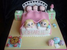 Girls sleepover birthday cake, via Flickr.