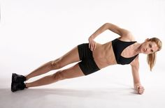 Abs Workout: The Fastest Way to Lose Belly Fat ~ Side Planks! The secret to amazing abs? Stop doing crunches and start doing these 3 flat-belly moves! Abs Workout Video, Abs Workout Routines, Plank Workout, Abs Workout For Women, Workout Log, Lower Belly Fat, Burn Belly Fat, Lose Belly, Flat Belly