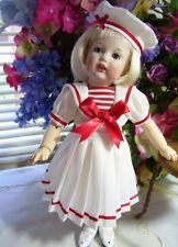 "11"" Bleuette Sailor Dress, Hat Pattern"