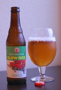 New Belgium Slow Ride Session IPA. 4.5%. Similar to the white ipa style with accumulation. Light hop flavor with light body. Pleasant drink without the bitter kick in the face you normally get with ipa style beers.