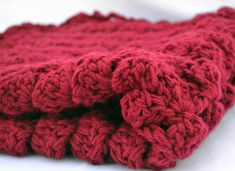 double strand burgandy crochet baby blanket by ValkinThreads2 #photoprop #babyshowergifts #crochetlove