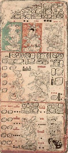 manuscrit Codex Dresdensis  Cela les conduit à mesurer la durée de l'année solaire avec une précision inouïe, plus élevée encore que celle de notre calendrier grégorien, avec une année moyenne de 365,242129 jours (année grégorienne : 365,242500 ; année astronomique : 365,242198), divisée en 18mois de 20jours et un mois complémentaire de 5jours.