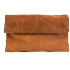 STREET LEVEL Right On Suede Panel Clutch BROWN ($34) ❤ liked on Polyvore featuring bags, handbags, clutches, purses, brown, hand bags, faux-leather handbags, man bag, brown clutches and brown handbags