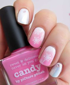 piCture pOlish 'Candy & Fairy Floss' snowflake mani art by Nail That Accent!  Shop on-line now: www.picturepolish.com.au
