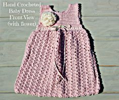 Baby dresses handmade crochet posh pink by crochetyknitsnbits