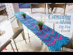 Caminho de Mesa em Crochê | Zig Zag | Professora Simone - YouTube