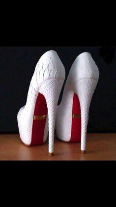 White Christian Louboutin heels!