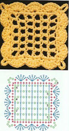 Esses quadradinhos nos ajudam e muio porque com ele podemos fazer almofadas , colchas,vestidos,blusas e entre varias peças em crochê . Ve...