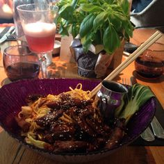 Crispy duck and noodle salad @ The Folly in Gracechurch Street, London