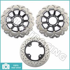 245.68$  Watch here - http://alikbn.worldwells.pw/go.php?t=32642515414 - Full Set New Front Rear Brake Discs Disks Rotors for Triumph TIGER 1050 07-14 08 10 11 12 Tiger 1050 SE 115NG 09-13