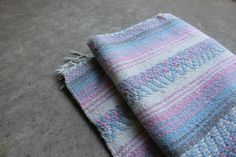 Vintage Mexican Blanket Pastel Bedding Boho by QUIVERreclaimed