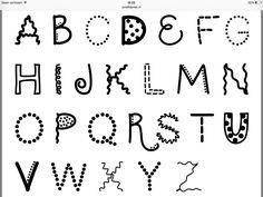 Zie voor veel voorbeelden & tips de website van Postfabriek.nl ! Hand Lettering Alphabet, Alphabet Print, Hand Lettering Quotes, Cool Lettering, Types Of Lettering, Typography Letters, Word Fonts, Letter Fonts, Handwriting Fonts