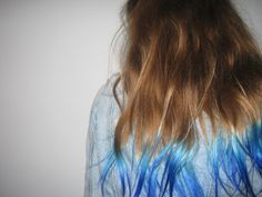 Displaying (18) Gallery Images For Brown Hair With Blue Tips Tumblr...