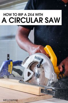 Learn how to rip a 2x4 with just a Circular saw even if you don't have a table saw with you. I'll show you how to do it safely by walking you through the instructions complete with photos and tips. #rip2x4 #circularsaw #beginnerwoodworking Woodworking Enthusiasts, Scrap Wood Projects, Workshop Organization, Circular Saw, Wood Working For Beginners, A Table, Woodworking Projects, Walking, Photos