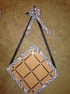 Zebra cork board
