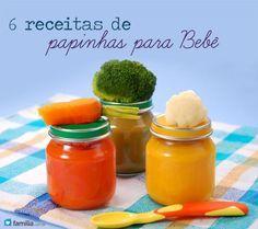 6 receitas de papinhas para bebê