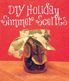 DIY holiday simmering scents