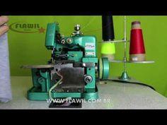 Como Ajustar os Pontos da Overloque Semi Industrial GN1-6D - YouTube