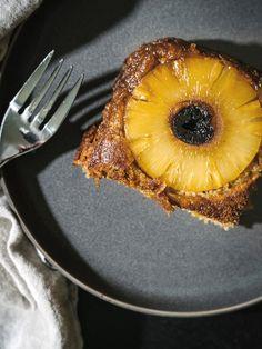 Gluten Free Boozy Pineapple Upside Down Cake - The Effortless Chic