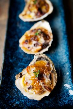 broiled oysters with oyster mushroom ragout recipe | use real butter