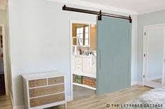 Barn door - master, very interesting. My master has no door on it and its constantly waking me up when my husband gets up in the morning. Possible, very possible.