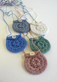 Tiny Crochet Keepsake Necklaces  •  Knit Or Crochet a knit or crochet necklace in under 180 minutes