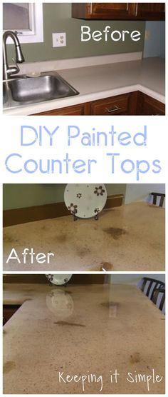 DIY painted counter tops tutorial with step by step instructions and lots of tips and details