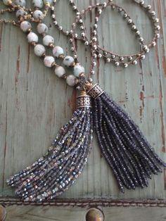 tassel necklace//